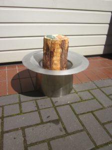 Gartendeko Brennschale aus Edelstahl 25