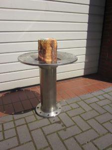 Gartendeko Brennschale aus Edelstahl 60